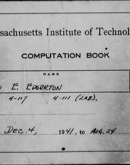 Edgerton Lab Notebook 12, Front Cover